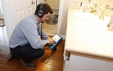 رفع نم و رطوبت دیوار و سقف پس از پیدا کردن محل نشت آب بوسیله دستگاه تشخیص ترکیدگی لوله